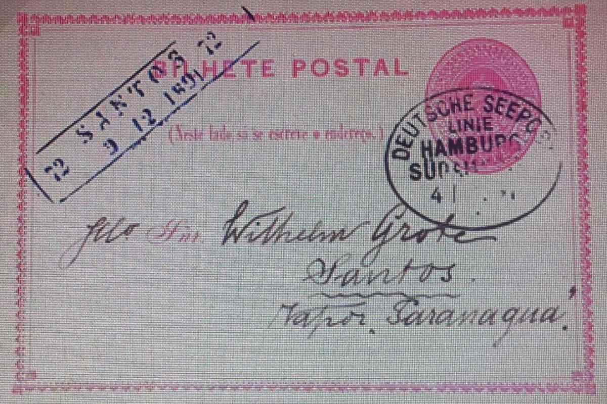 bilhete postal 20 réis